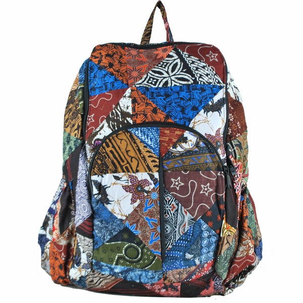 Bali Patch Cotton Backpack (Indonesia)