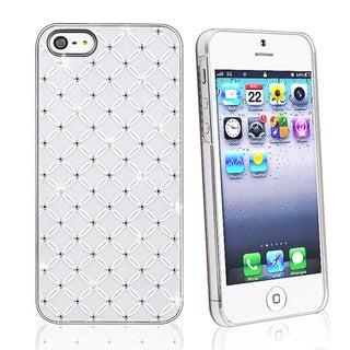 INSTEN White Lattice Diamond Snap-on Phone Case Cover for Apple iPhone 5