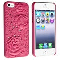 BasAcc Hot Pink 3D Sculpture Rose Rear snap-on Case for Apple iPhone 5