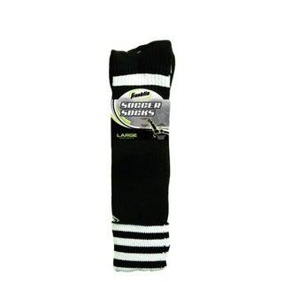 Black/White Adult Size (large) Soccer Socks (Pack of 6)