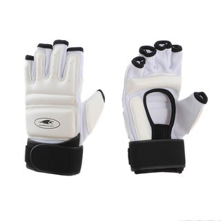 Lion Martial Arts White Large KD Hand Protectors (Set of 2)