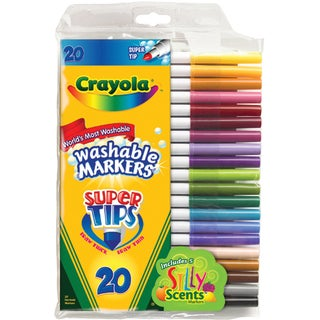 Crayola Super Tips Washable Markers (Pack of 20)