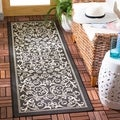 Modern Safavieh Black/Grey Indoor/Outdoor Rug (2'2