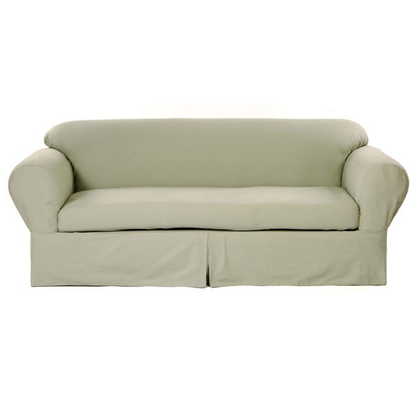 Classic Two-piece Twill Sofa Slipcover