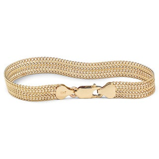 PalmBeach 10k Yellow Gold Mesh 7.25-inch Bracelet Tailored
