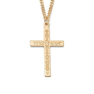 """PalmBeach Lord's Prayer Gold-Filled Pendant and Gold Ion-Plated Chain 24"""""""