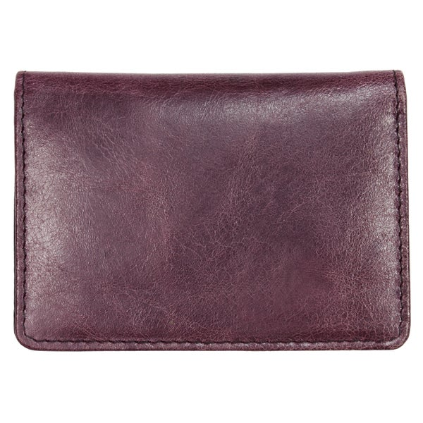 YL Fashion Leather Wallet, Credit Card Holder in Purple Design