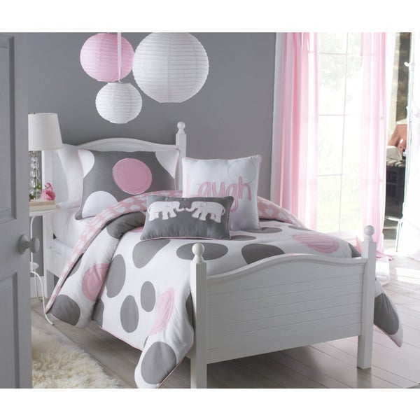 Big Believers Pink Parade 2-piece Twin-size Comforter Set