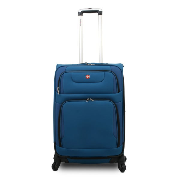 SwissGear SA7297 Blue 20-inch Expandable Carry-on Spinner Upright Suitcase