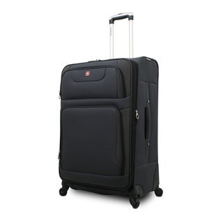 SwissGear SA7297 Collection 20-inch Grey Expandable Carry On Spinner Upright