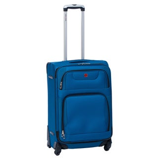 SwissGear Collection 24-inch Blue Expandable Spinner Upright Suitcase