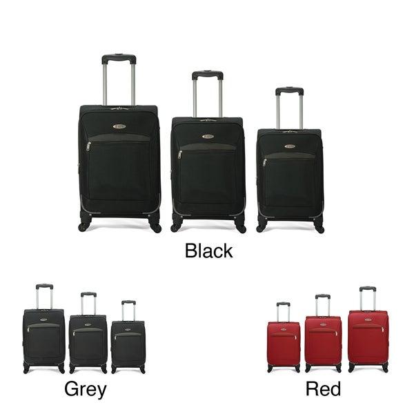 Benzi 3-piece Expandable 4-wheel Multidirectional Spinner Luggage Set