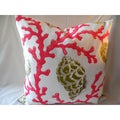 Ann Marie Lindsay Pink and White Shell Decorative Pillow Cover
