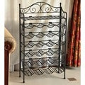 Iron 24-bottle Wine Rack with Shelf