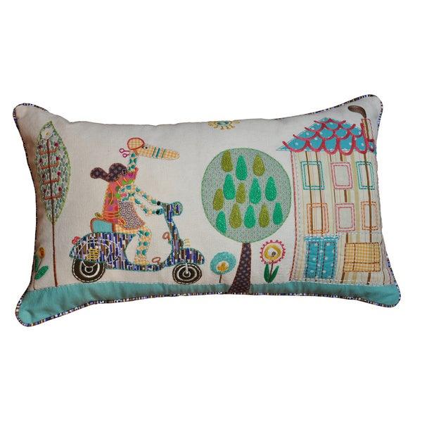 Cottage Home Vespa Decorative Pillow