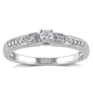Miadora 10k White Gold 1/6ct TDW Diamond Ring (G-H, I1-I2)