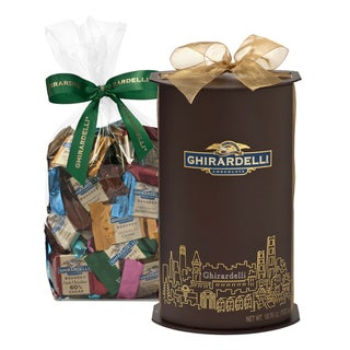 Ghirardelli San Francisco Skyline Large Cylinder 80-count Chocolate Gift Box