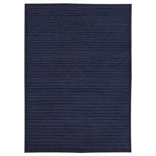Nautical Navy Indoor/ Outdoor Braided Rug (2'3 x 4')