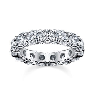 14k White Gold 2 1/2ct TDW Diamond Eternity Wedding Band (H-I, I1-I2)