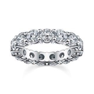 14k White Gold 2 1/2ct TDW Round Diamond Eternity Wedding Band