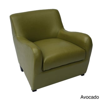 Easton Bonded Leather Avocado Accent Chair