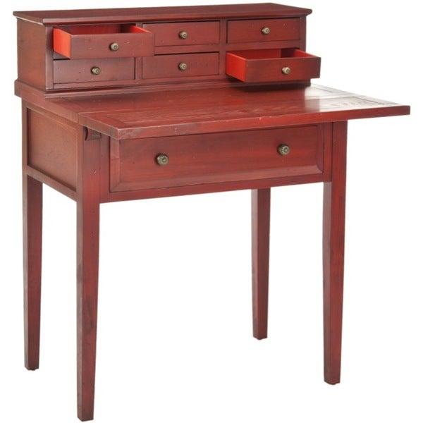 Safavieh Abigail Cherry Storage Fold Down Desk