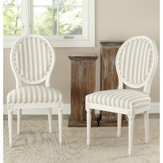 Safavieh Reims Cream Oval Side Chairs (Set of 2)