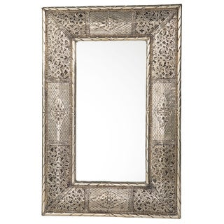 24-Inch Handcrafted Metalwork Mirror (Morocco)