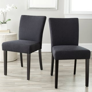 Safavieh Camille Black Pinstripe Dining Chairs (Set of 2)