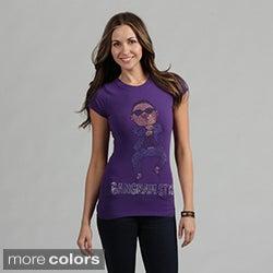 Women's Rhinestone 'Gangnam Style' Shirt