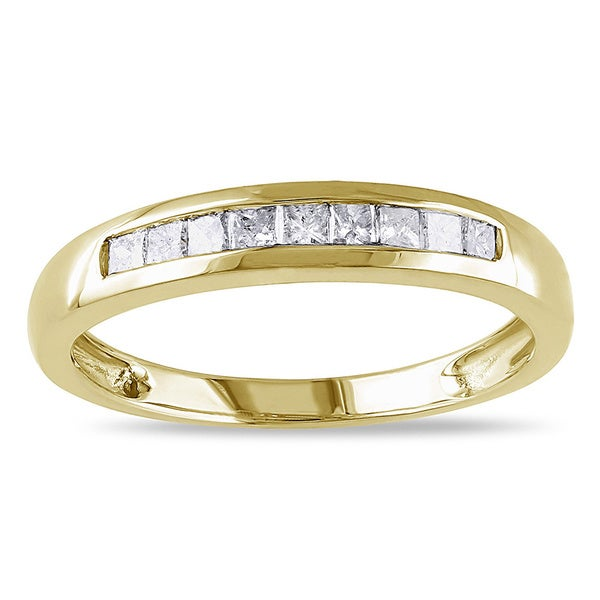 Miadora 14k Gold 1/4ct TDW Diamond Semi-eternity Ring (G-H, SI1-SI2)