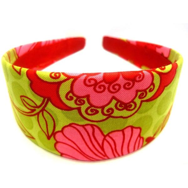 Crawford Corner Shop Red Pink Lime Floral Headband
