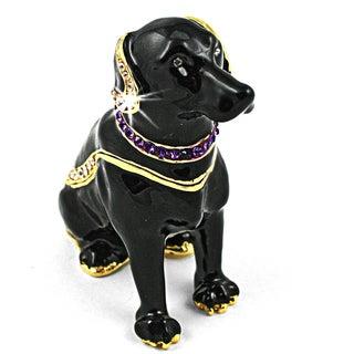 Objet d'art 'Our Dog Chong Black Labrador' Trinket Box