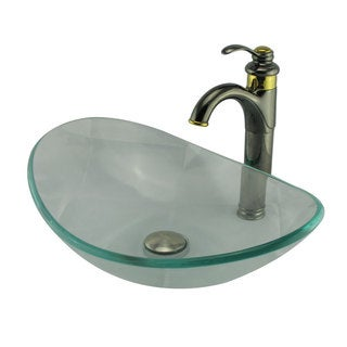 Elite Clear Tempered Glass Vessel Sink