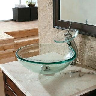 CAE Clear Tempered-Glass Bathroom Sink