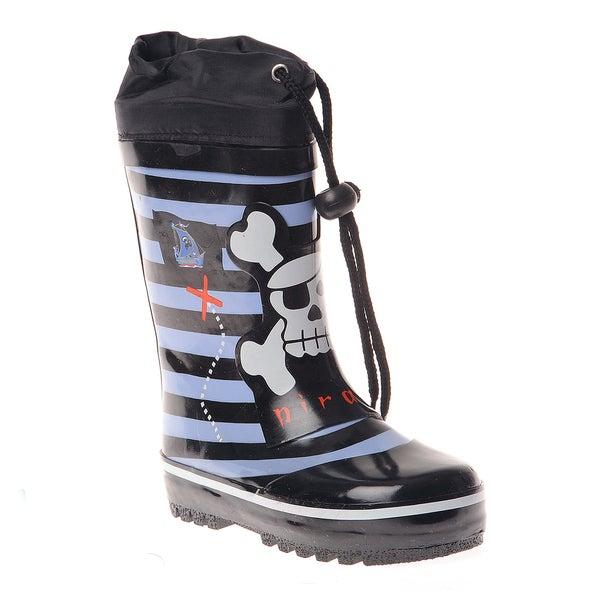 Henry Ferrera Boys Striped and Pirate Printed Rain boot
