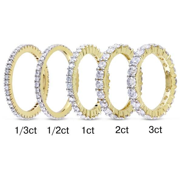 Miadora 14k Yellow Gold 1/3ct to 3ct TDW Diamond Eternity Ring (G-H, I1-I2)
