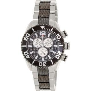 Swiss Precimax Men's Deep Blue Pro II Chronograph Watch with Unidirectional Bezel