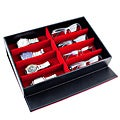Caddy Bay Collection Black Leatherette Sunglasses, Jewelry, and Watch Storage Display Case
