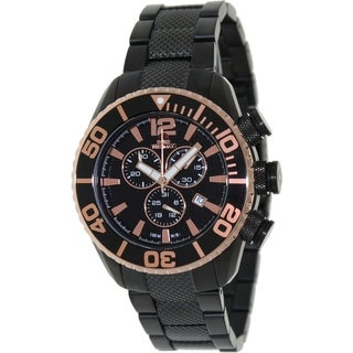 Swiss Precimax Men's Deep Blue Pro II Black Chronograph Watch