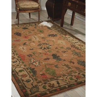 Nourison Hand-Knotted Tahoe Copper Wool Rug