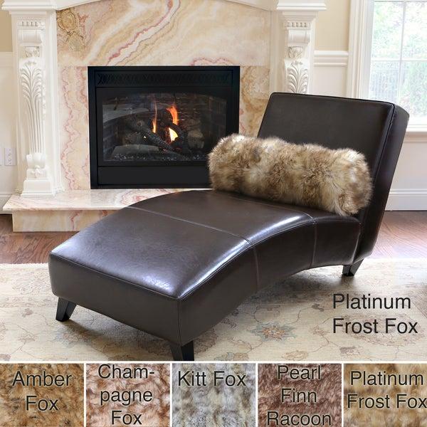 Wild Mannered Luxury Long Hair Faux Fur Bolster Pillow
