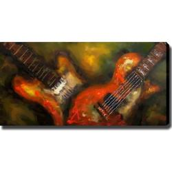 'Guitar' Giclee Canvas Art
