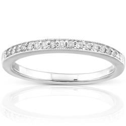 14k White Gold 1/10ct TDW Diamond Wedding Band (H-I, I1-I2)