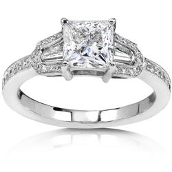 18k White Gold 1 1/2ct TDW Diamond Engagement Ring (G-H, I1-I2)