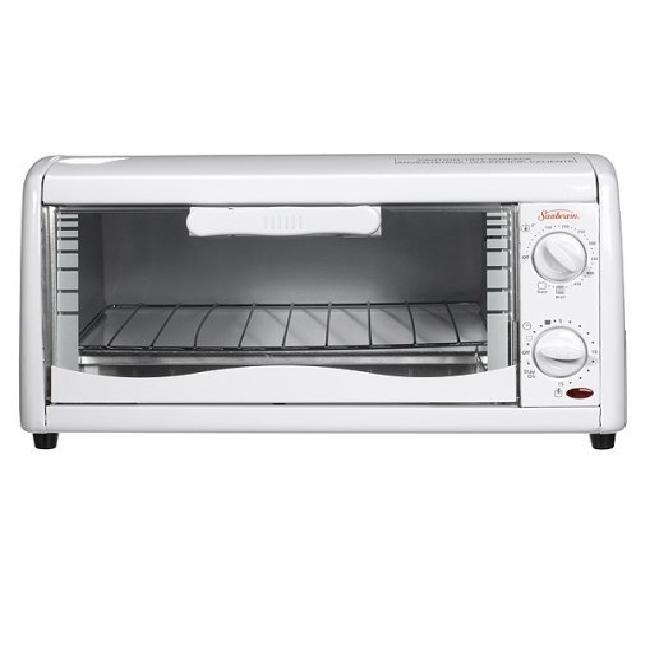 Sunbeam 6198 White 4 Slice Toaster Oven Overstock