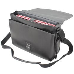 Kenneth Cole New York 15.4-inch Leather Laptop Messenger Bag