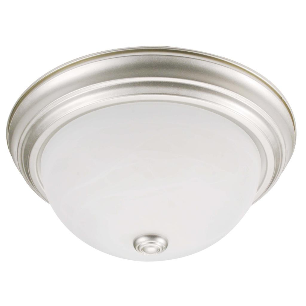 Transitional 2-light Flush Light Fixture