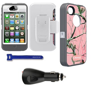 OtterBox Defender iPhone Protector Case / Car Charger / Velcro Tie