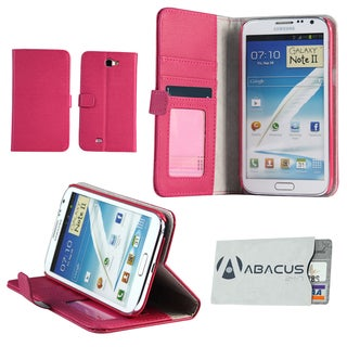 Deluxe Samsung Galaxy Note II Pink Stand Case with Secure Sleeve